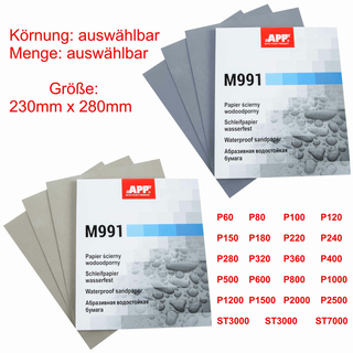 Wasserschleifpapier 230 mm x 280 mm P1500
